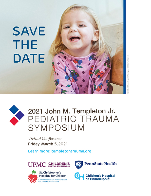 John M. Templeton Jr. Pediatric Trauma Symposium Banner